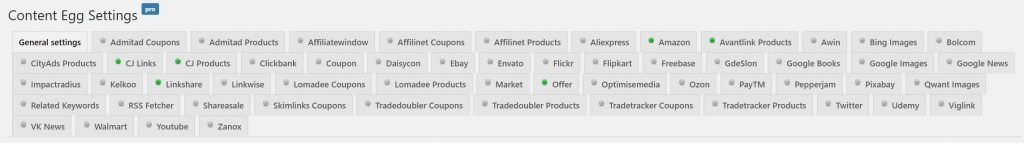Compatible Affiliate Networks for Content Egg Pro