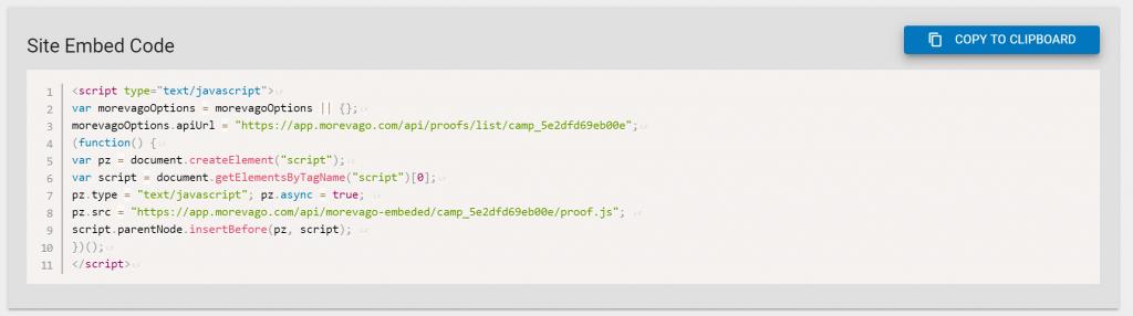 Morevago HTML Embed Code