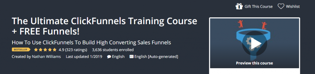 The Ultimate ClickFunnels Training on Udemy