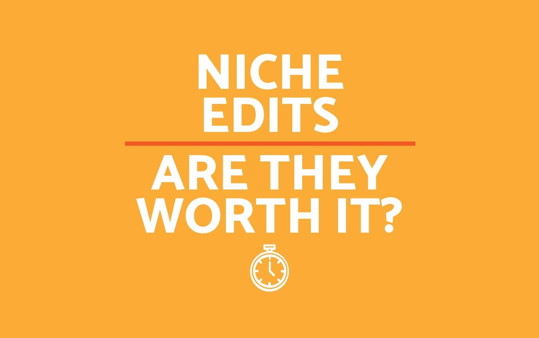 Are Niche Edits Worth It?