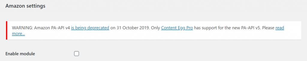 Content Egg API Version 4
